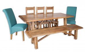 Large dining set aqua bench