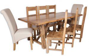Large dining set natural